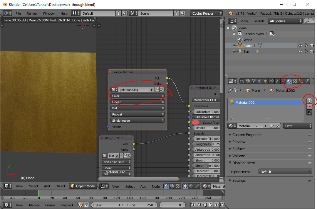 Gold base texture swapped in